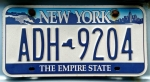 The webmaster takes photos of license plates to use as introductions to trips. Here is the one for the reunion trip. It