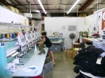 This is where the embroidery is produced. The hats and golf shirts where stitched here.