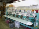 The embroidery machines. This is a fairly large number of machines. Many places only have one or two.