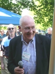 Tom McCarthy after his speech. Does Tom still get nervous after 45 years? You betcha! He cares about each person in the