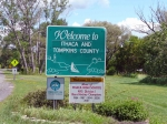 The webmaster also takes photos of Welcome signs as introductions to trips. Here is the one from Ithaca. Where is it loc