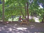 Buttermilk Falls State Park: What better place to eat a homemade lunch from Wendy's?