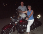July 13, 2008: To Hap's surprise, Ellie has a motorcycle that looks exactly like his. Remember the movie 'Easy Rider'