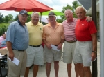 Hap Gray and the WINNING TEAM - Team #4 - Tom Roskelly, Bob 'Woody' Wood, Tom Lattin and Gary Foote