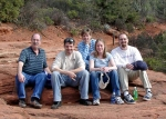 Bob Garmise's family. From left to right is: Bob, TJ (son), Terri (wife), Ashley (daughter), and Alex (son). This was t