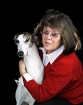 Hitee and Darlene Lynch Klein. Darlene shows greyhounds at major dog shows. Darlene is the one on the right.