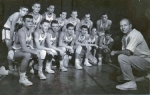 1959-60 JV Basketball Team: Left to right - Top row: Dick Kaupp, Dave Swarthout, Don Newby, Jim Van Natta, Tom Culligan,
