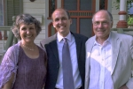 Ann Austin Smock, son Ned, and Bill Smock on the occasion of Ned's wedding, 5/28/06. In an effort to conserve on vowels